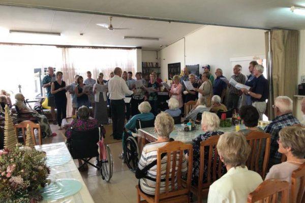 Chorsingen am 23. Dezember in Huis Immergroen und Paulpietersburg Care Unit